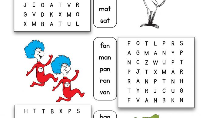 The Best Dr Seuss Word Search Printable
