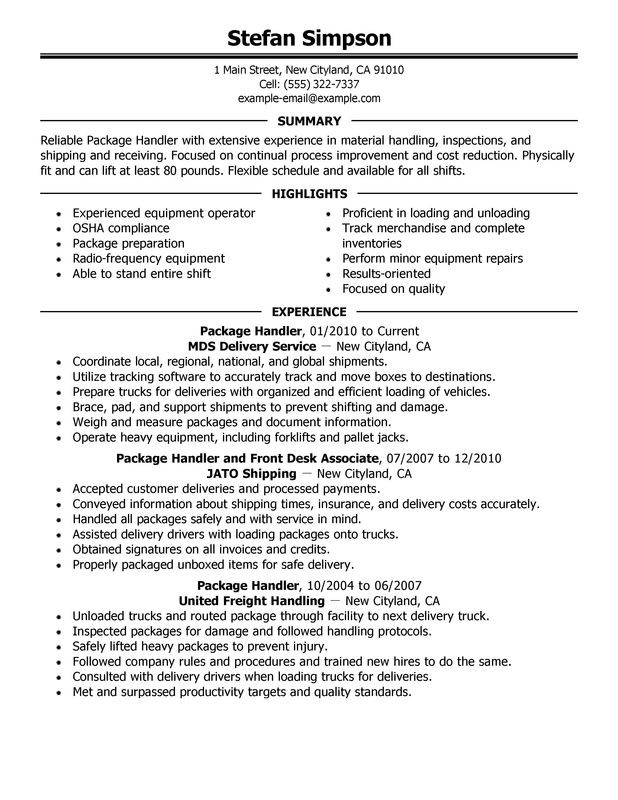 Fedex Material Handler Job Description