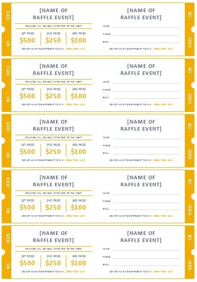 The Best Printable Raffle Tickets Ideas On Pinterest