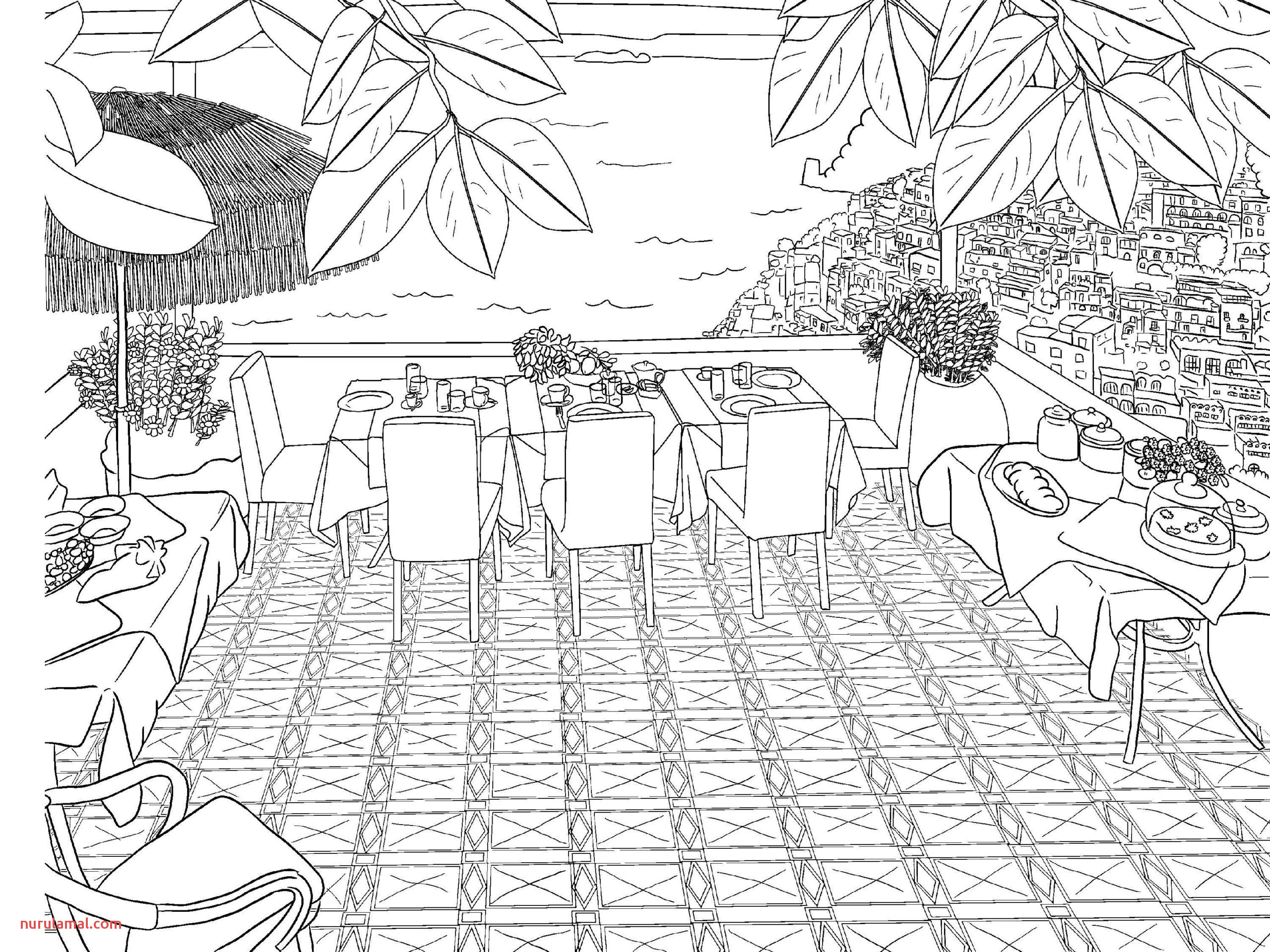 mountainy coloring pages for adults farm free nature to print fall scaled