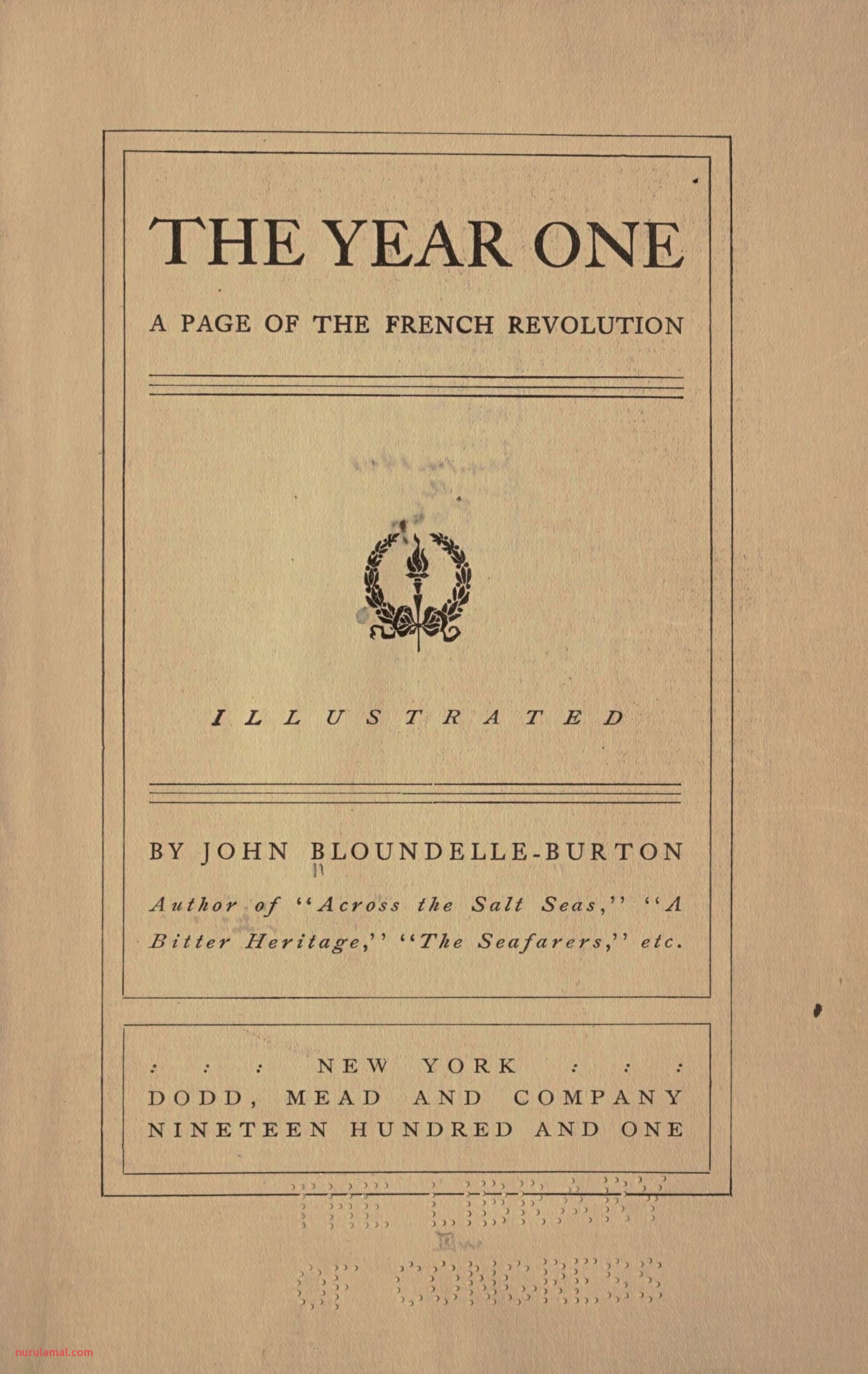The Year One A Page Of the French Revolution