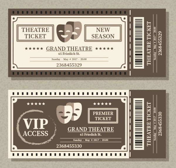 Theater Ticket Template Ideal.vistalist.co