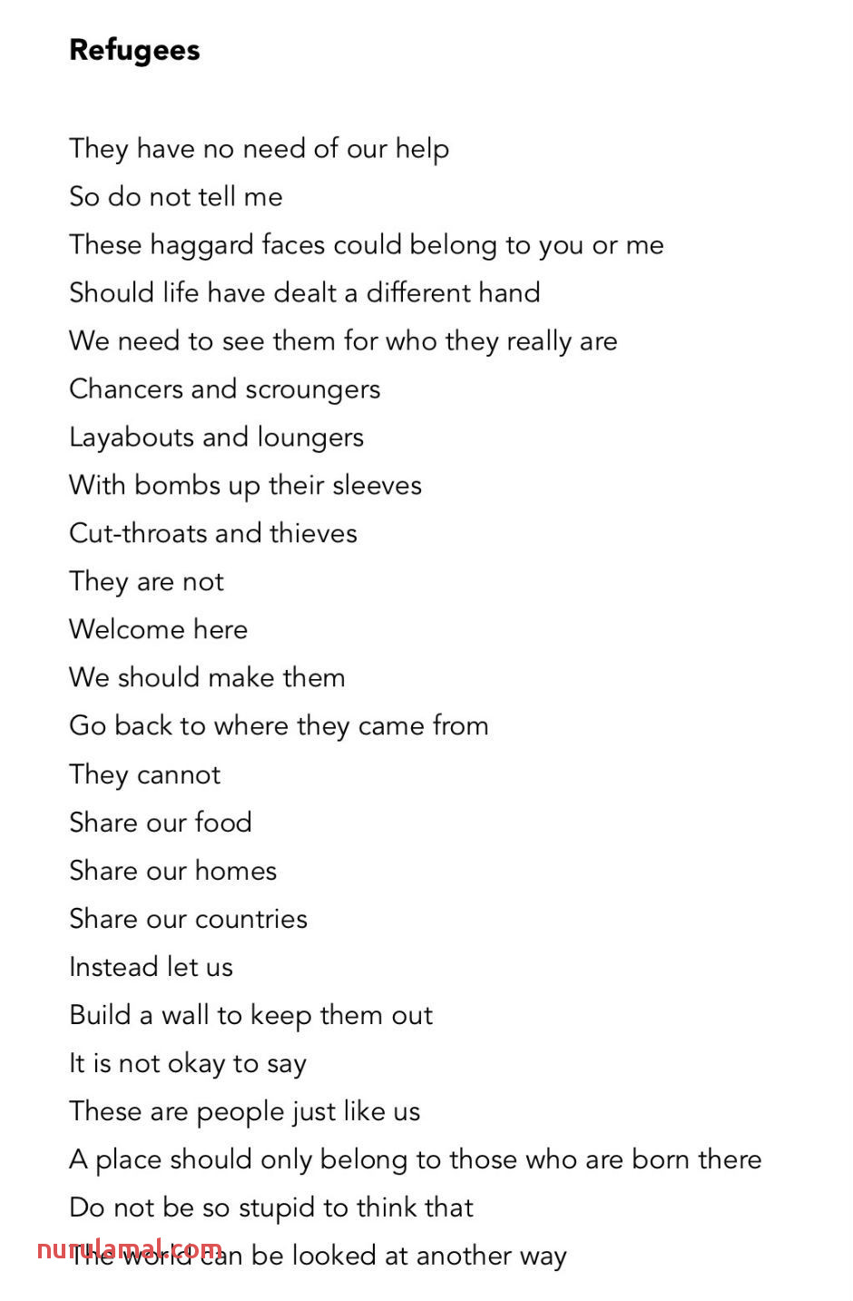 This Dark Poem About Refugees Has A Beautiful Hidden Twist