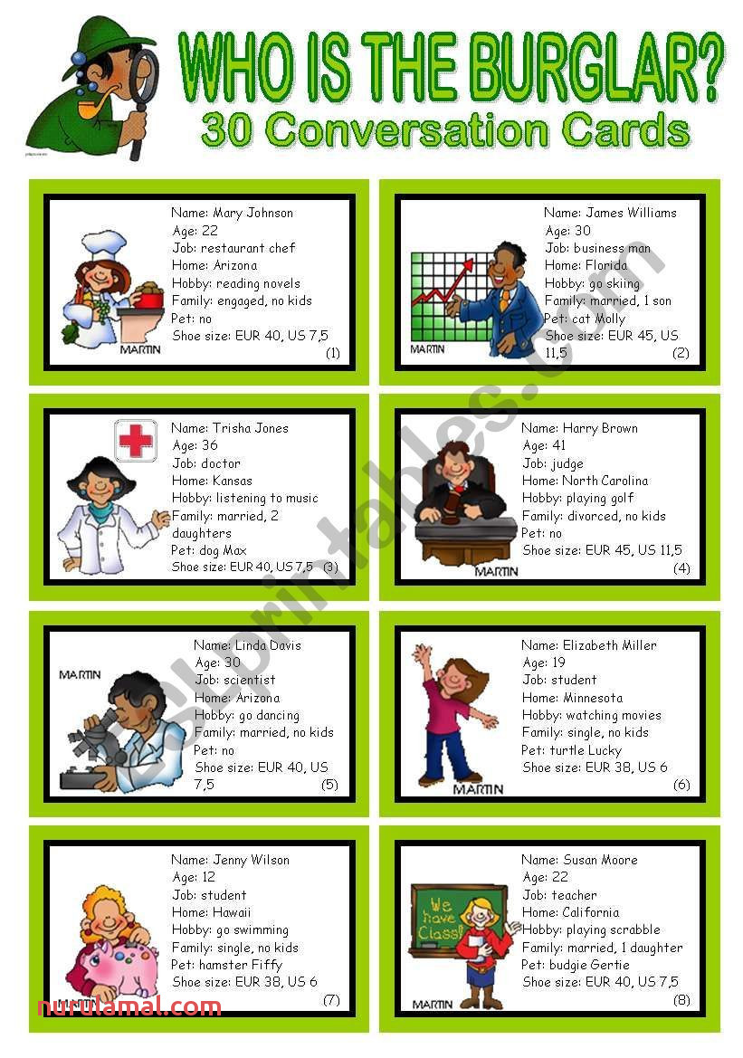 This is A Conversation Game Roleplay for Elementary to