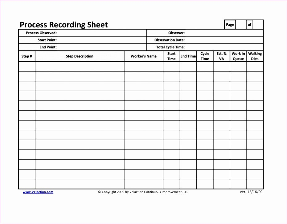 Time And Motion Study Template Excel Exceltemplates