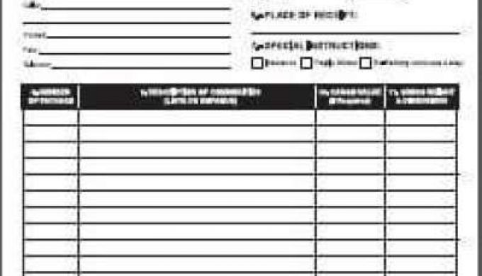 Top Free Bill Of Lading Templates Word Templates