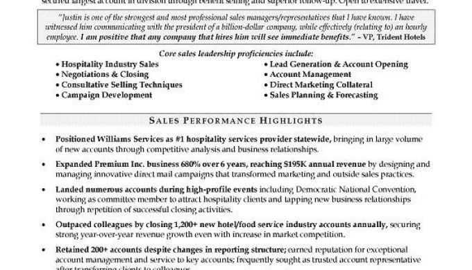 Top Sales Producer Resume