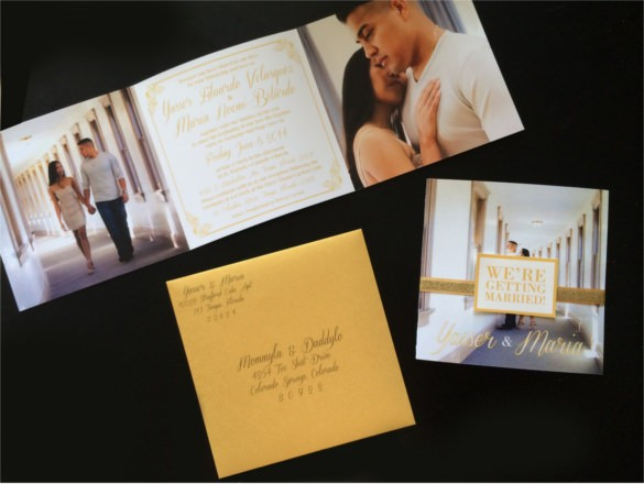 Trifold Wedding Invitation Templates Free Sample