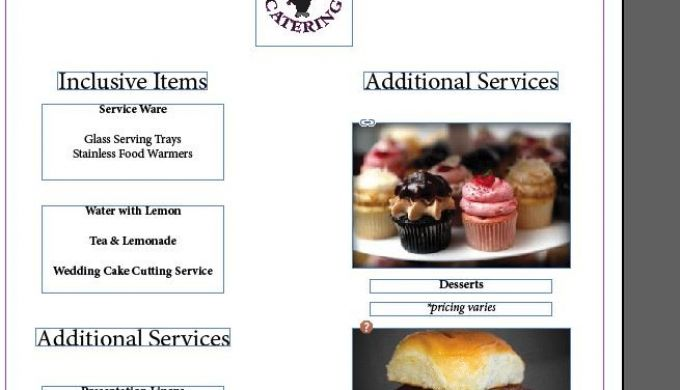 Two Wedding Catering Menu Templates For Free