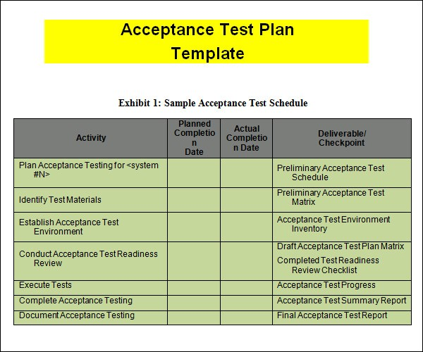 Uat Test Plan Template User Acceptance Testing