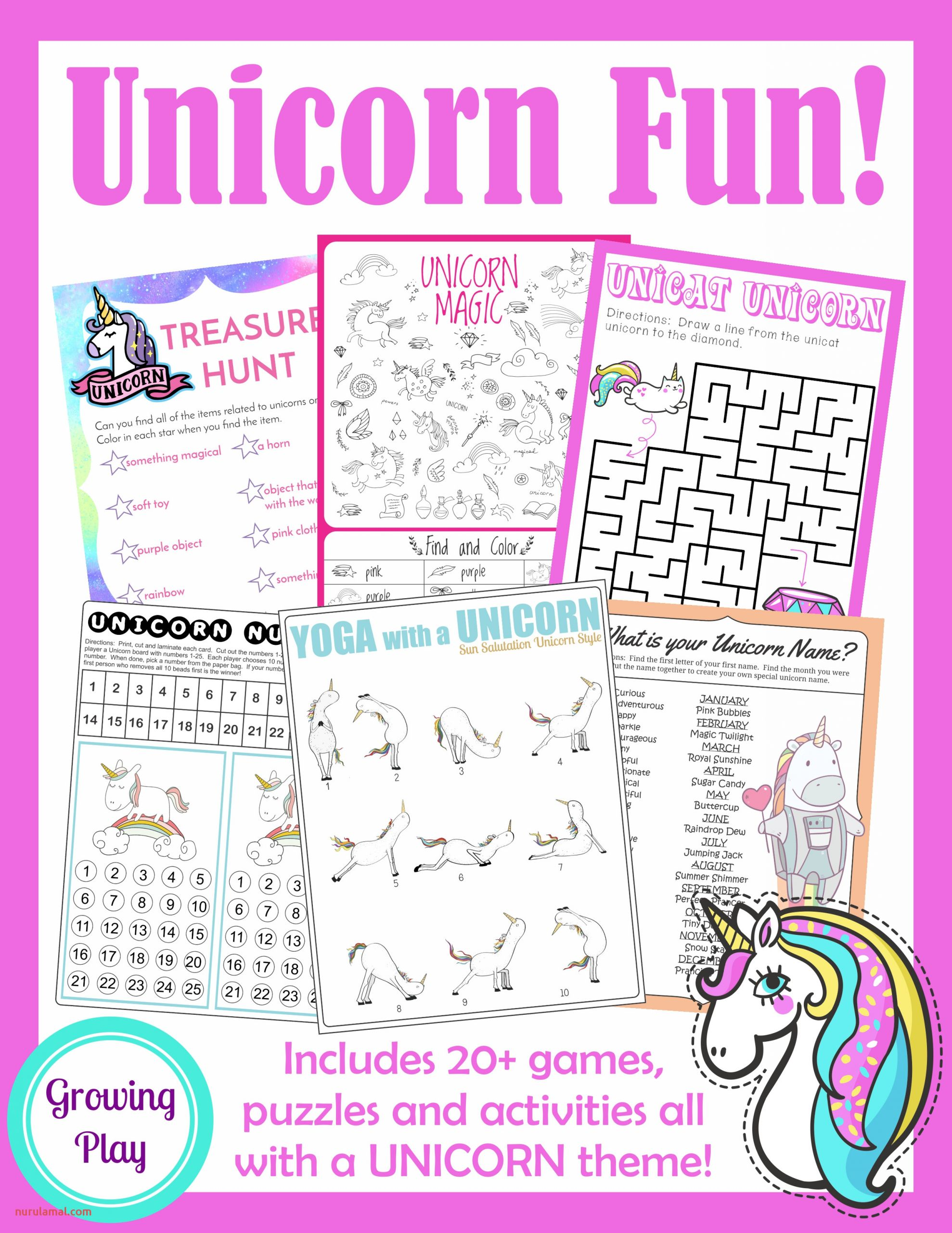 Unicorn Games and Activities