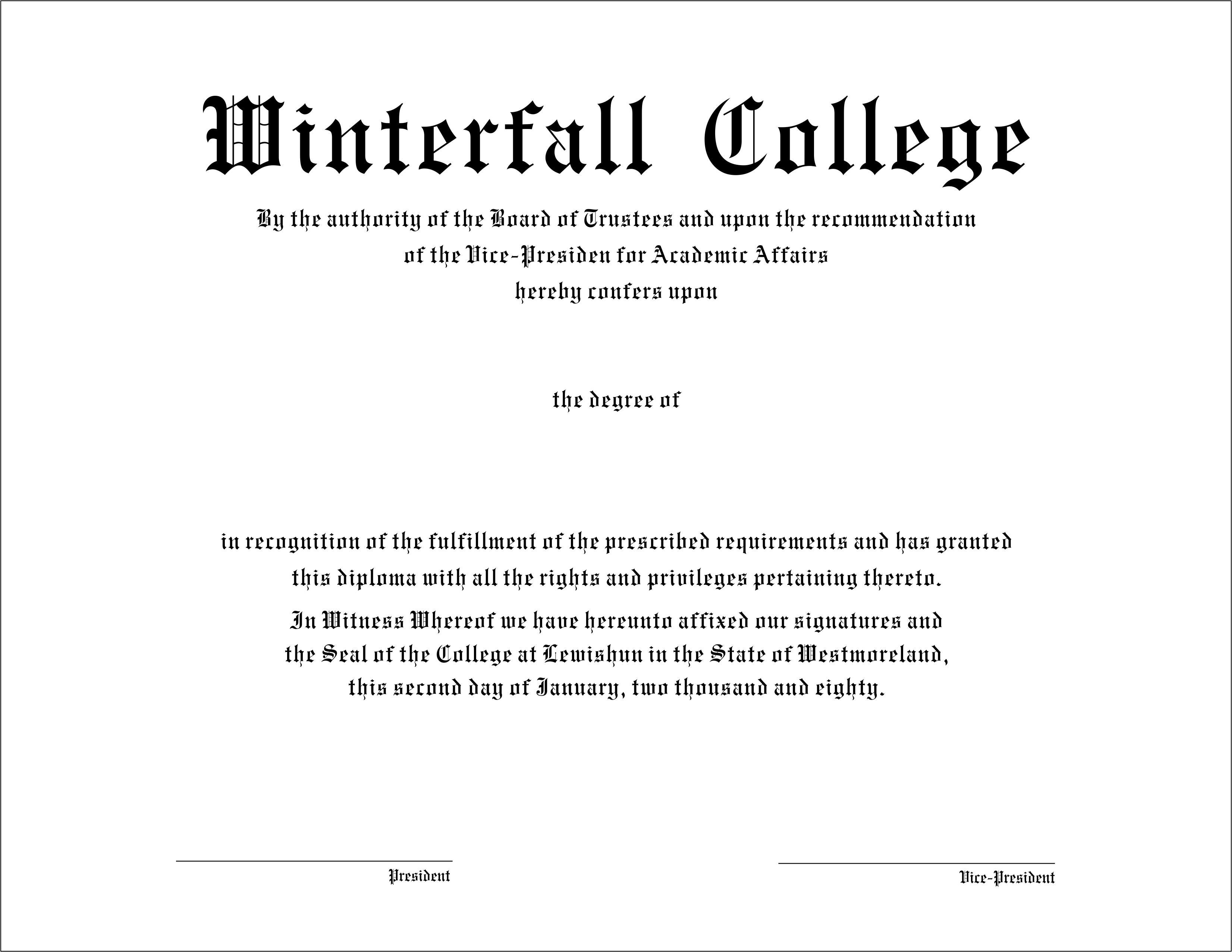 College Diploma Templates