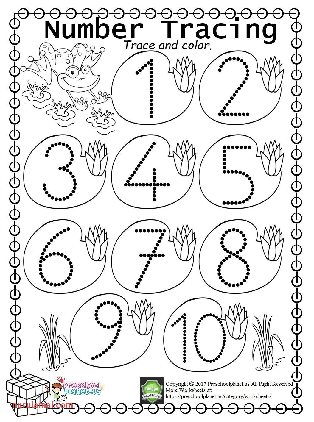 Unique Traceable Numbers 1 10 Worksheets to Print – Hotel