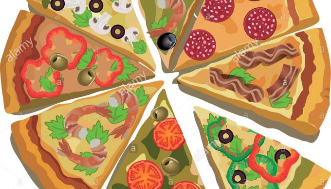 Vector Pizza Label Or Poster Design Template. Pizza