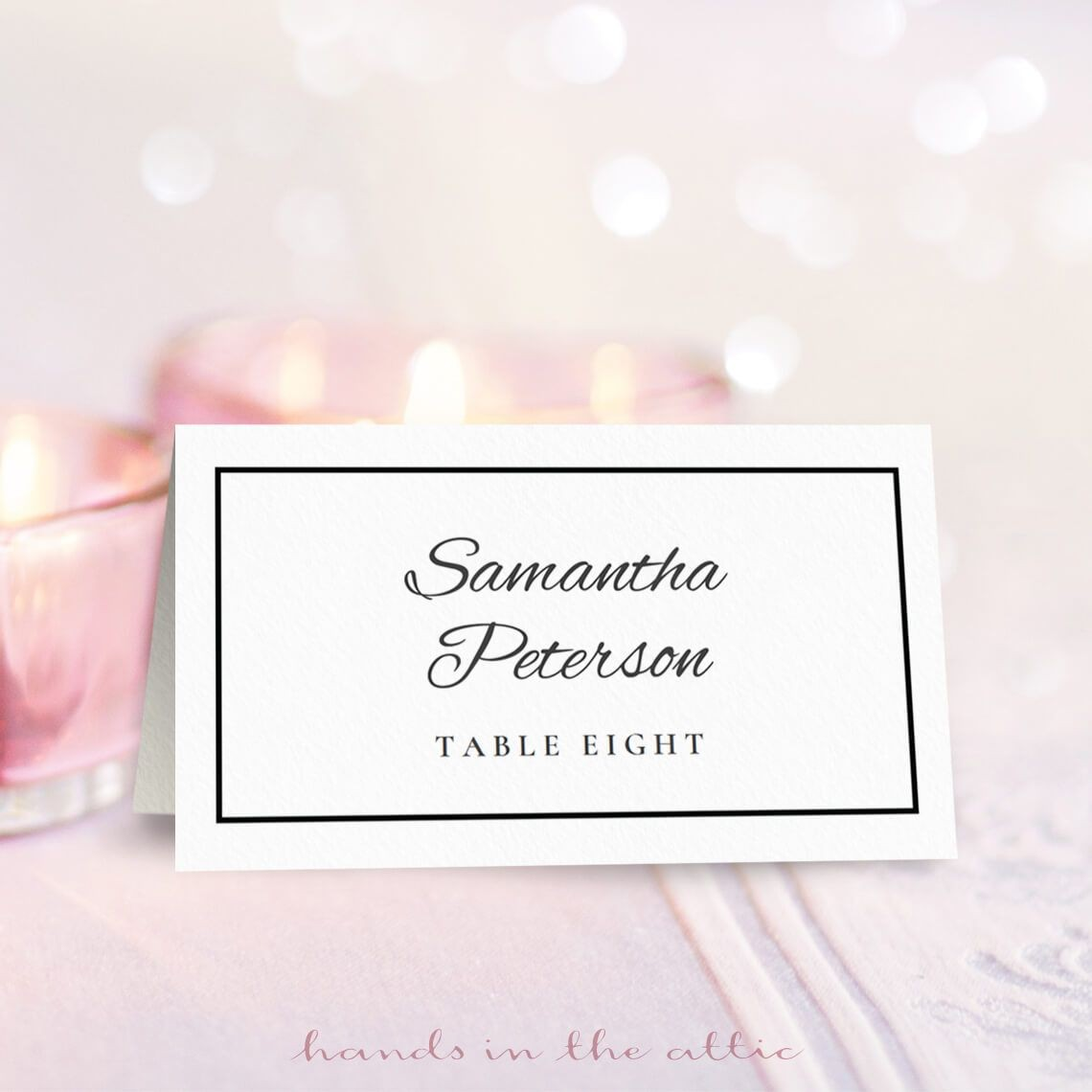 Wedding Place Card Template Free Download Free On