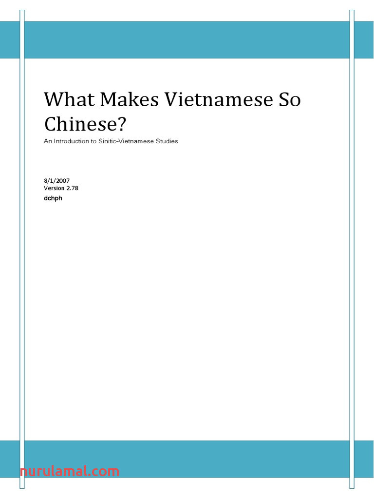 What Makes Vietnamese so Chinese Pdf