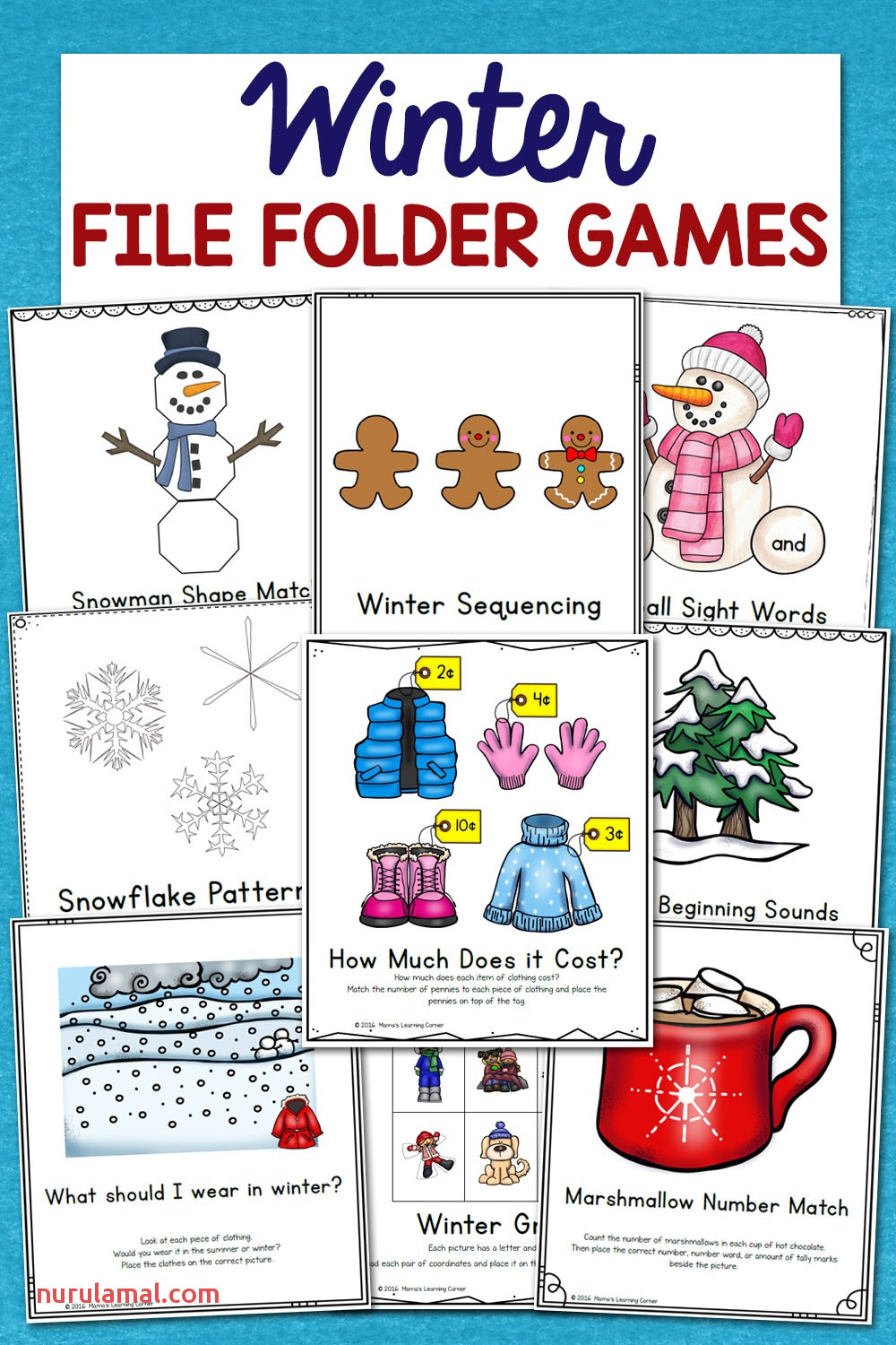 Winter File Folder Games 10 Learning Activities Mamas