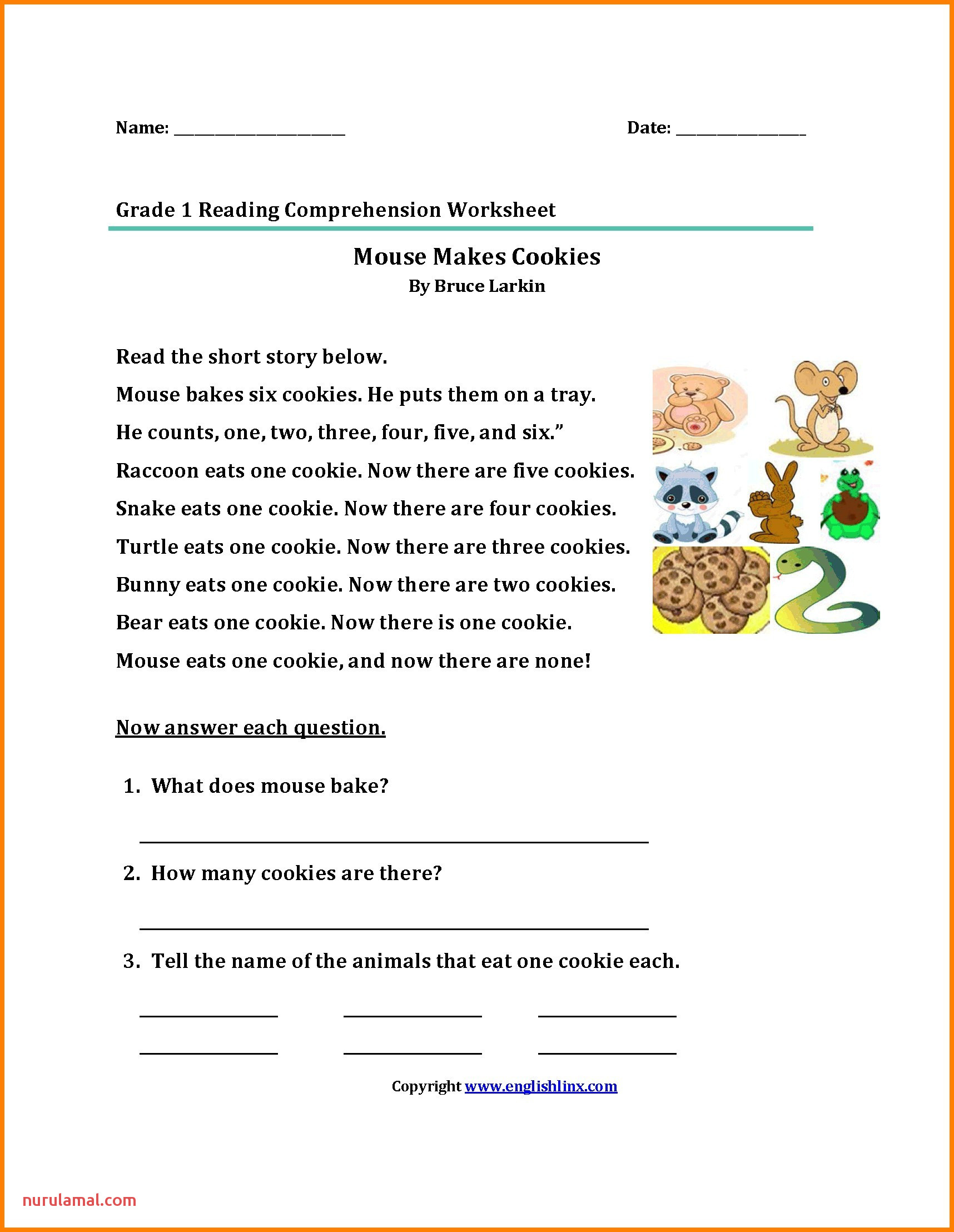 word mily worksheets for second grade kids awesome first reading passages about animals new od 2nd