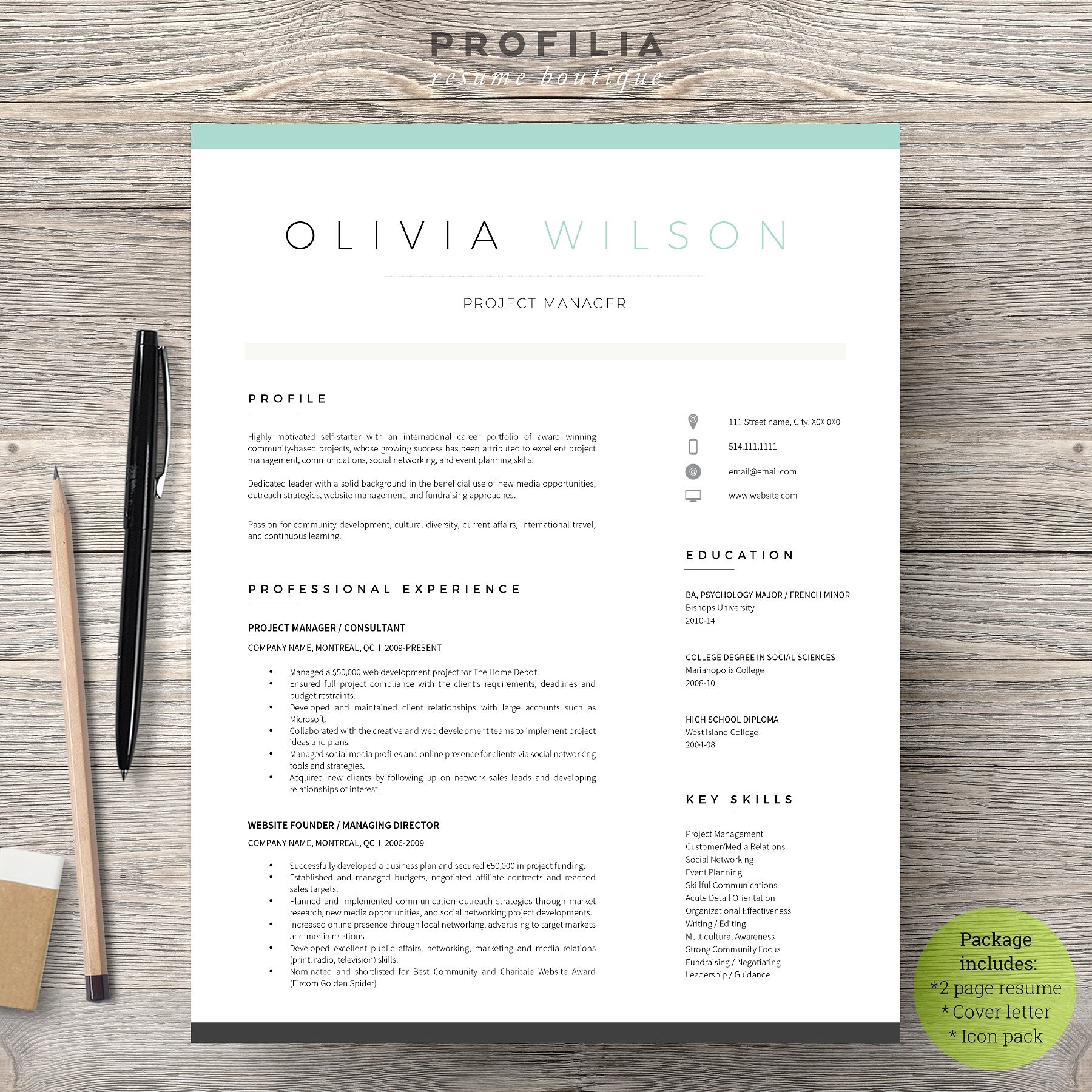 Word Resume Cover Letter Template Resume Templates