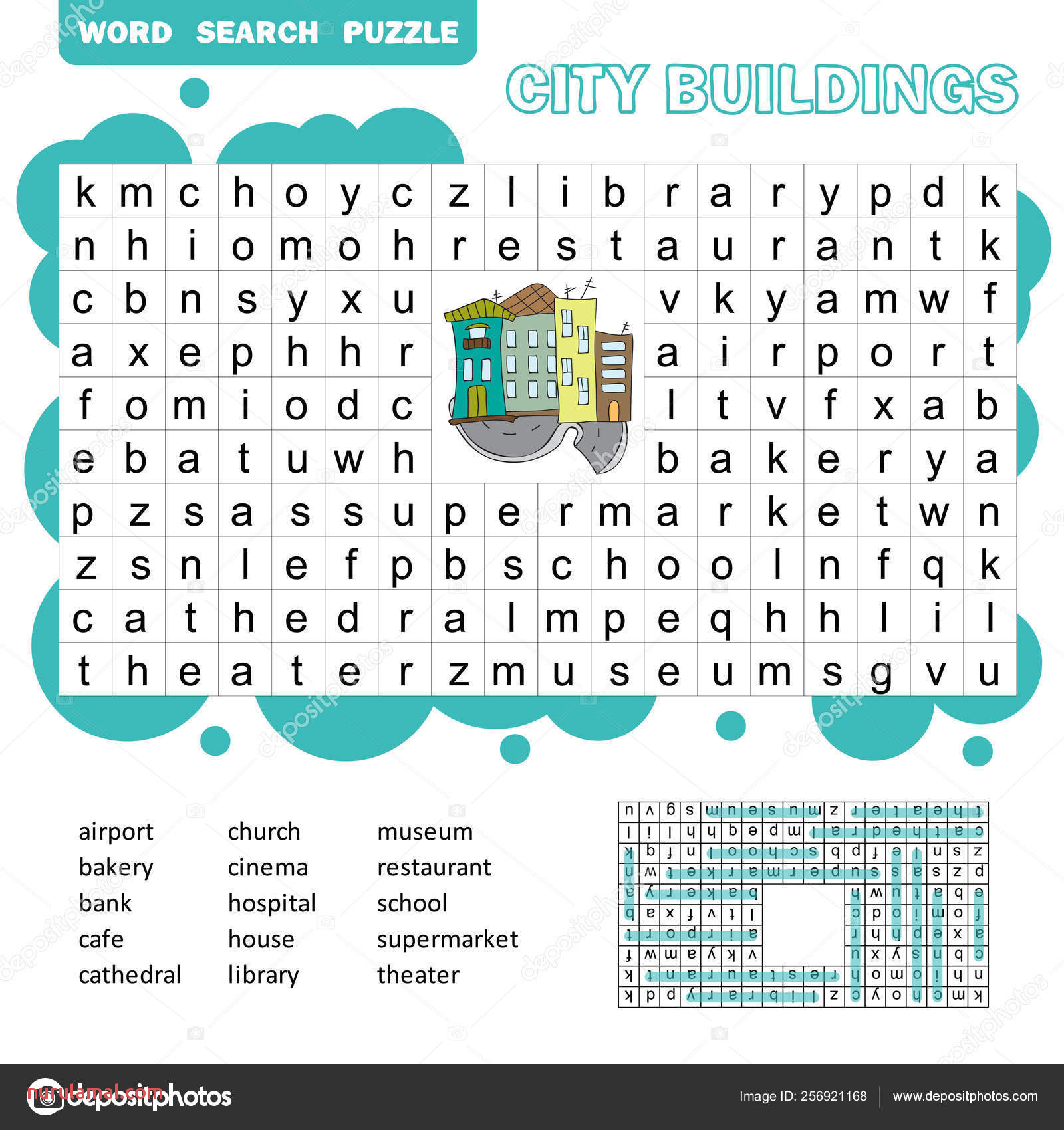 depositphotos stock illustration word search puzzle vector game