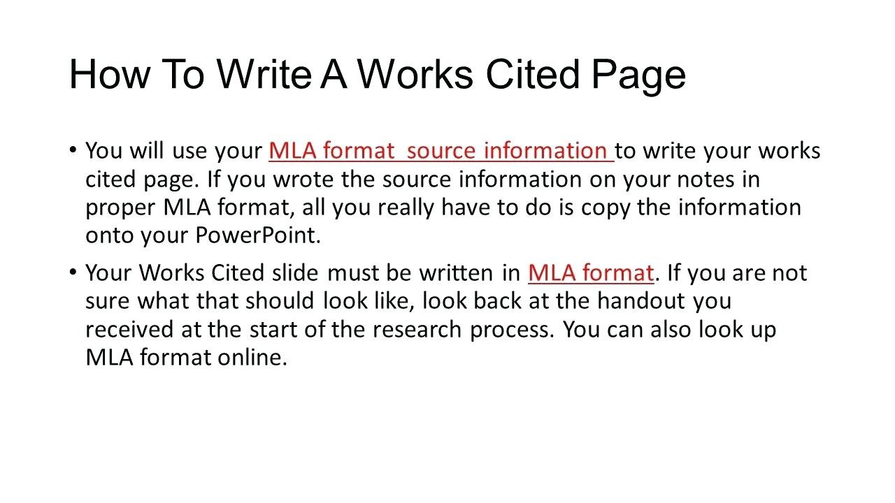 Work Cited Template