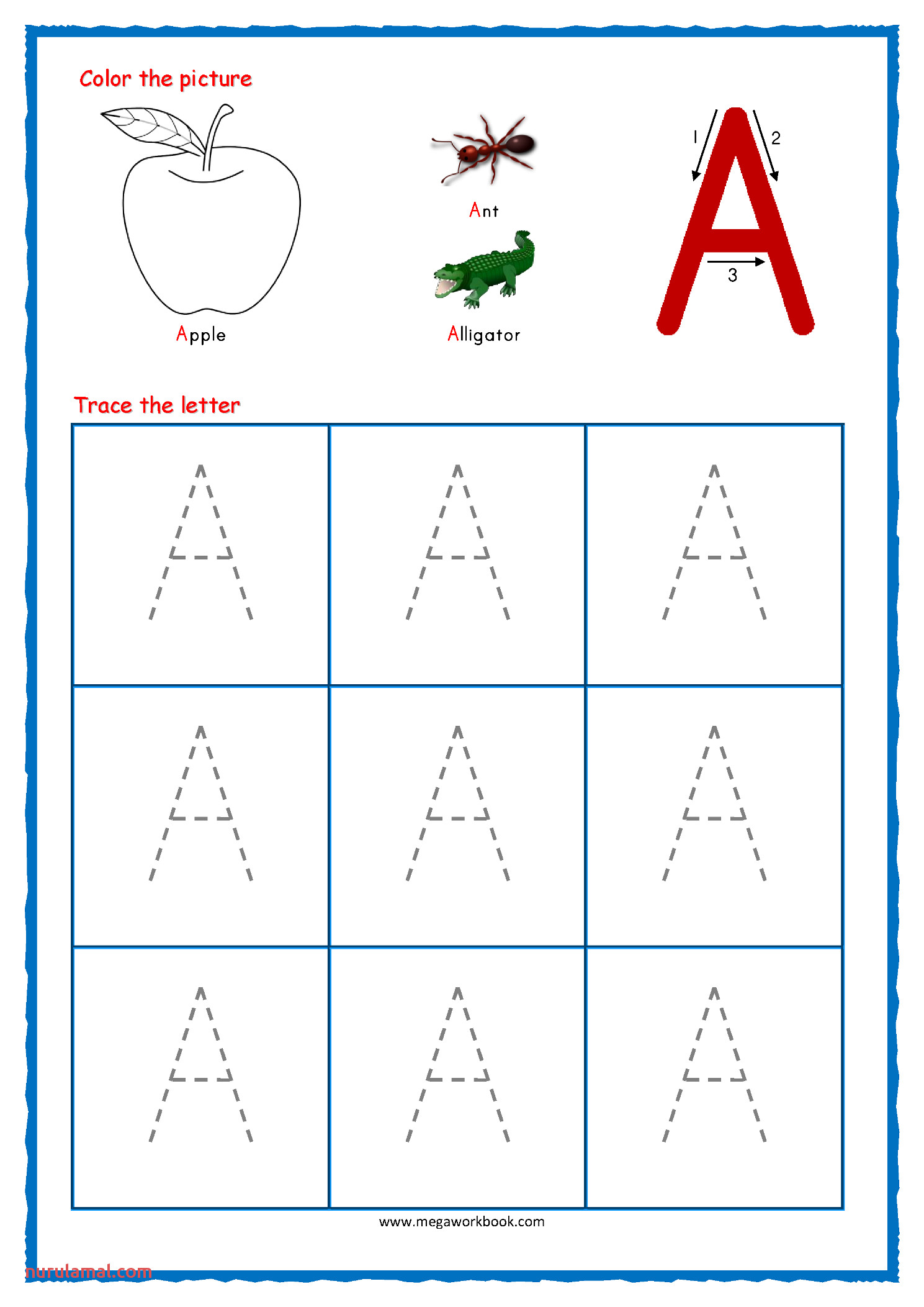 worksheet ideas tracing for toddlers capital letter tracing with crayons 01 alphabet a letterslphabet capital worksheets image