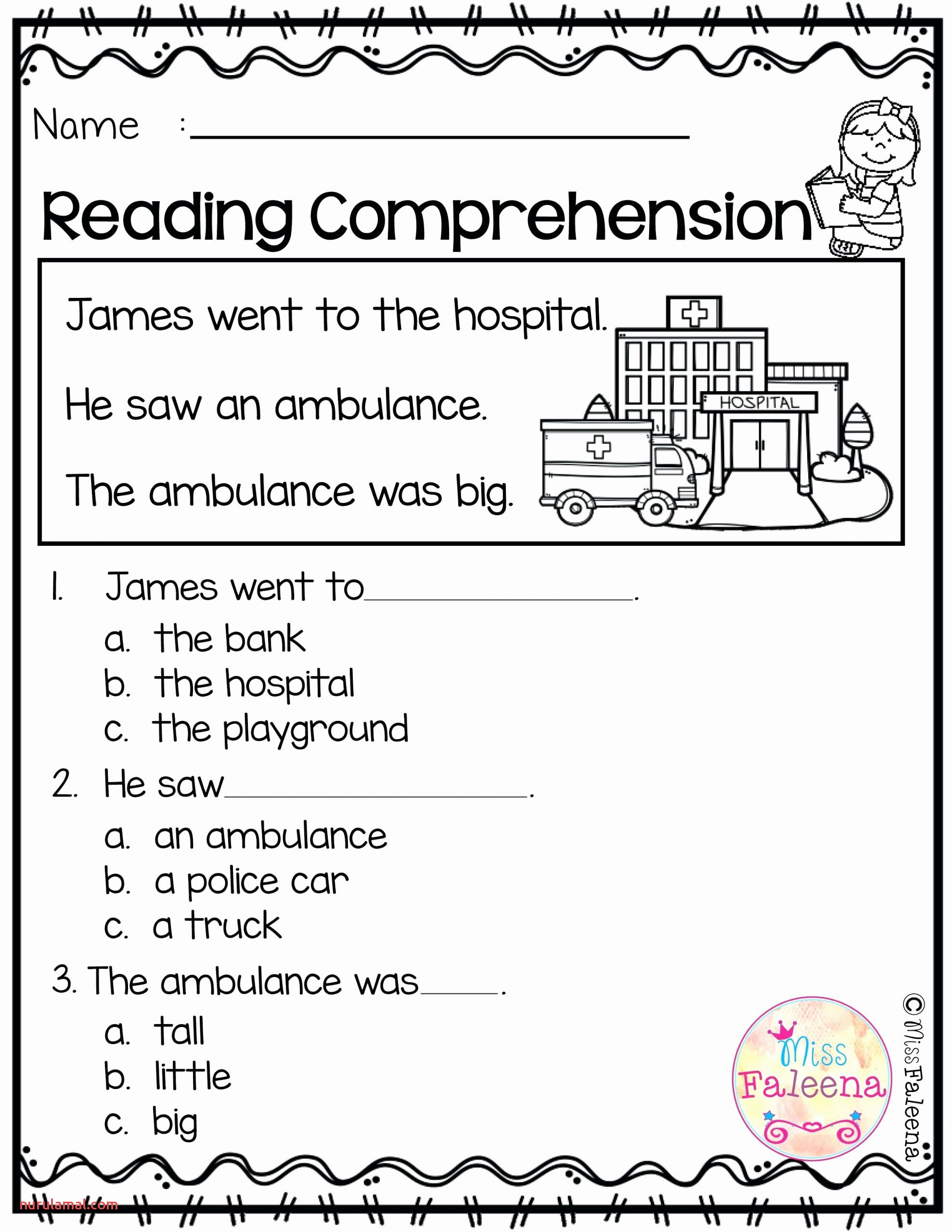 Worksheet Ideas Free English Prehension Worksheets