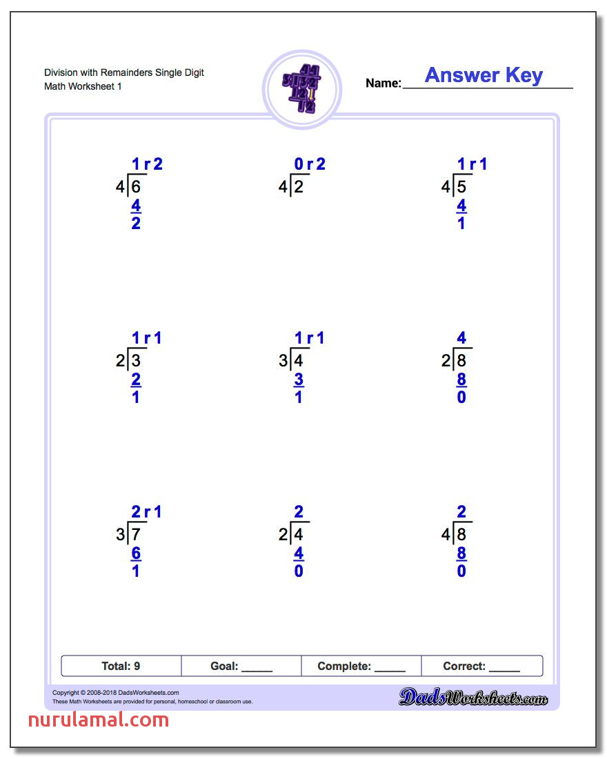 long division worksheets single digit with remainders v1 math grade worksheet ideas cool games run printable and free coloring pages
