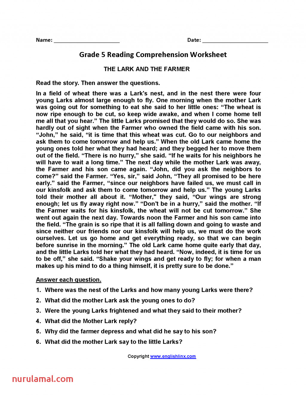 Worksheet Ideas Short Reading Prehension with Questions