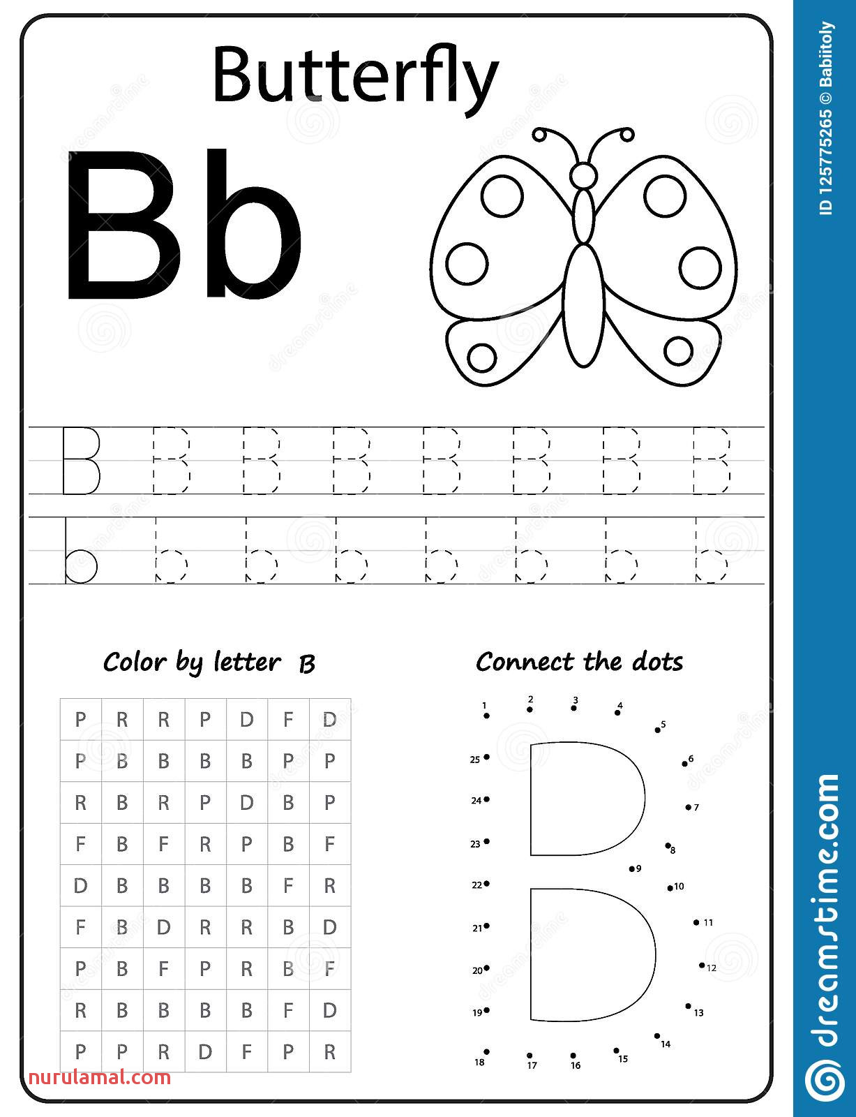 Writing Letter B Worksheet Writing A Z Alphabet