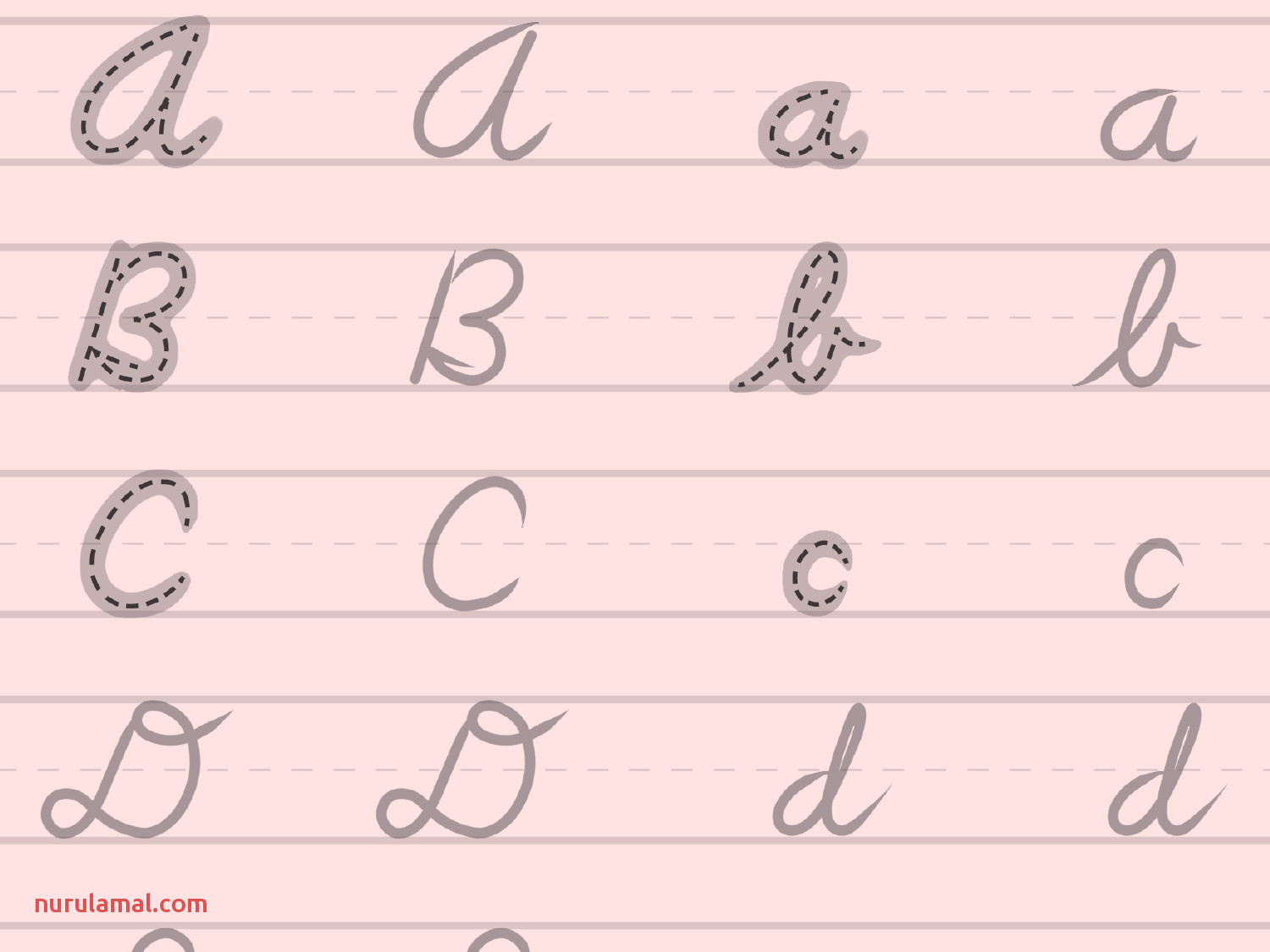 writing practice cursive letters printable 4 3
