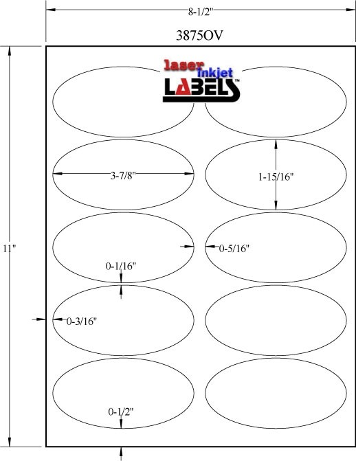 Oval Labels Template