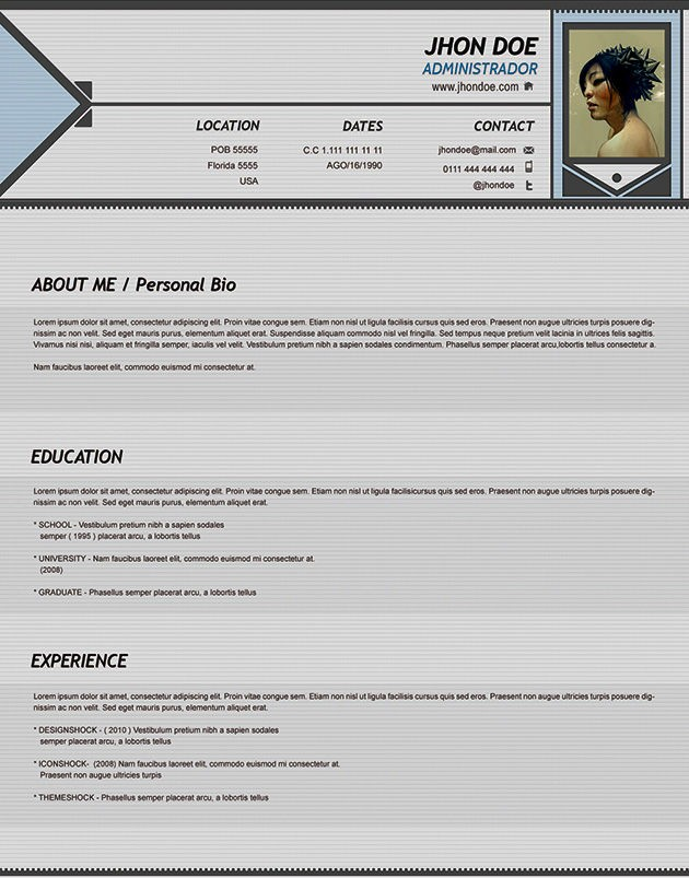 Year Old Cv Example Resume Template Cover Letter