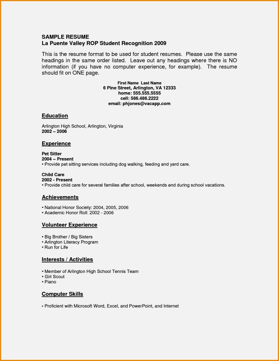 Year Old Resume Sample Resume Template Cover Letter