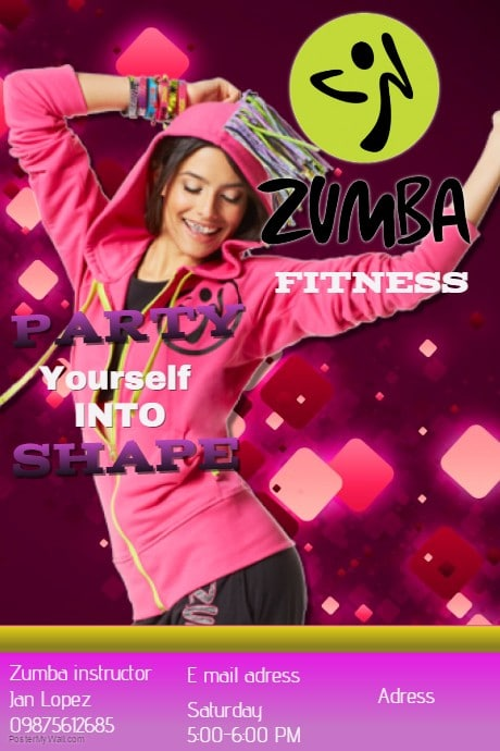 Zumba Template Postermywall
